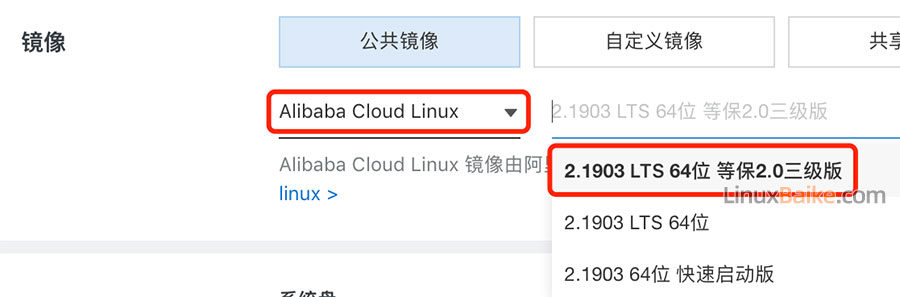 Alibaba Cloud Linux 2.1903 LTS 64位 等保2.0三级版